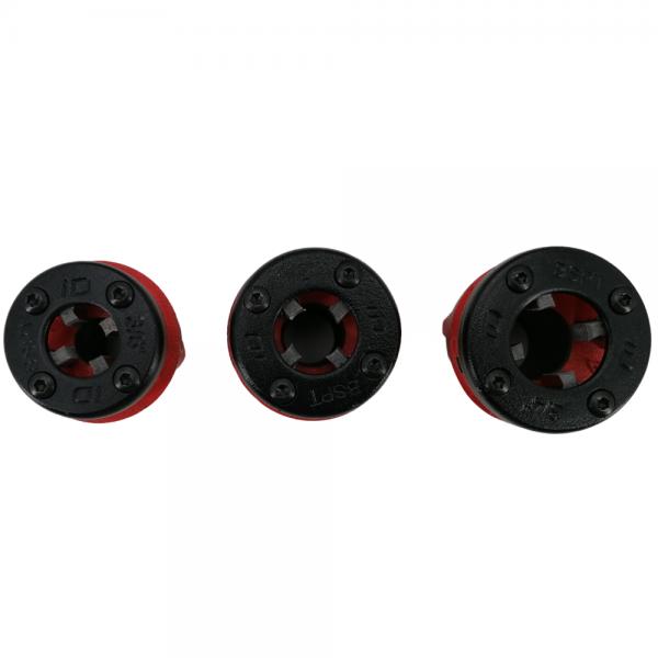 Inštalaterske navojne čeljusti z ročko 4 delni set IS 3 5