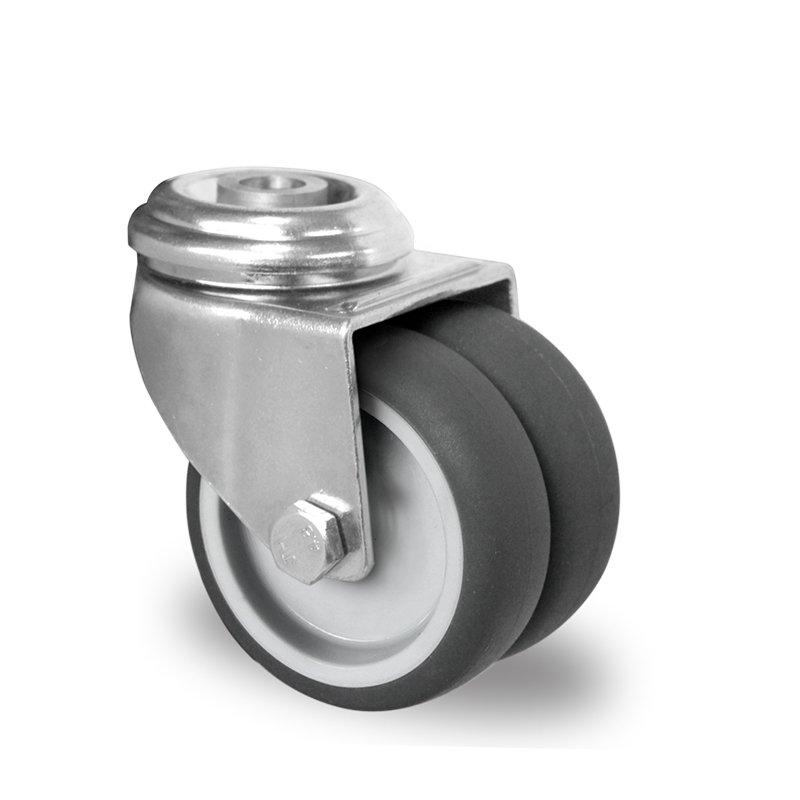gibljivo kolo pritrditvena luknja cascoo apparatus twin wheels r 75 mm termoplasti 269 na guma tpr 1