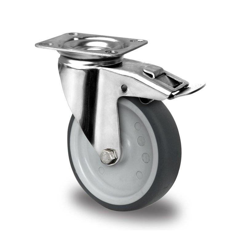 gibljivo kolo z zavoro pritrditvena priroba cascoo apparatus r 100 mm termoplasti 269 na guma tpr 4