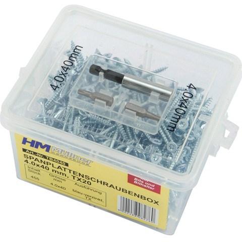 VIJAKVIJAKI ZA LES V PLASTIcNI sKATLICI BOX 385 DELNI SET 4X50 TB4050