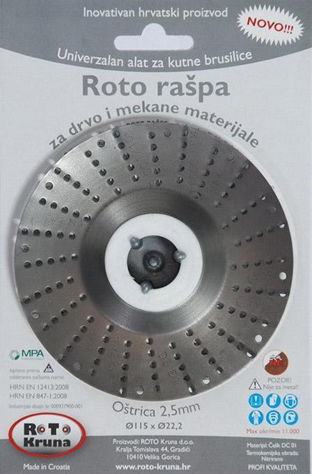 Roto raspa 115 2.5mm groba