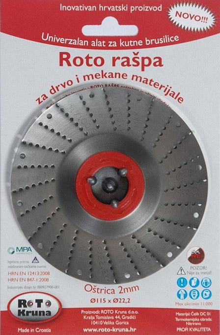 Roto raspa 115 2mm standard