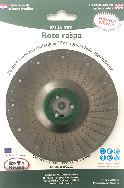 Roto raspa 125 1.5 mm fina