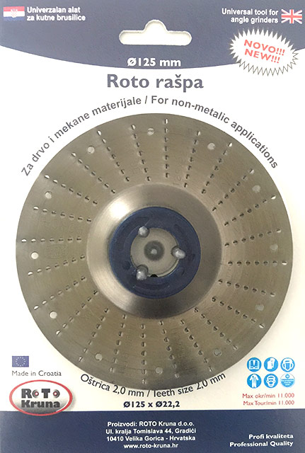 Roto raspa 125 2.0 mm standard