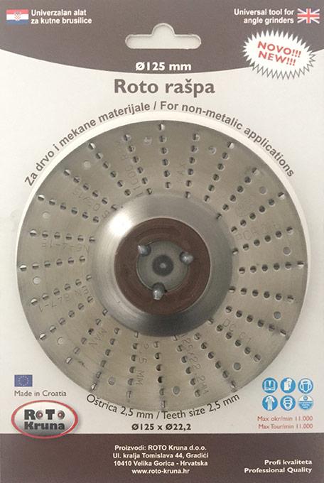 Roto raspa 125 2.5 mm groba